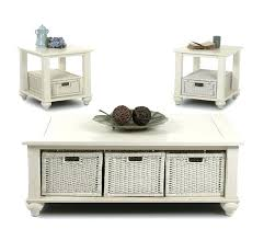 end table with baskets white rectangular pool table pockets leather next coffee table baskets