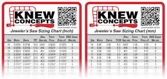 Knew Concepts Saw Blade Specifications