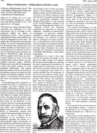 a history of biochemistry part v the unravelling of biosynthetic first page of article