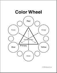The color chart serves as a guide to help them see how to. Clip Art Color Color Wheel Coloring Page I Abcteach Com Abcteach