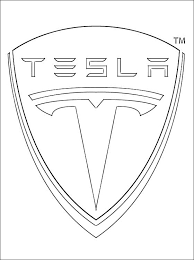 Logo Tesla Cars Coloring Pages Print Coloring Pages