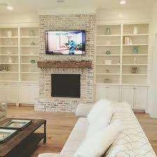 mounting tv into brick fireplace red ditch mantle above flat screen over