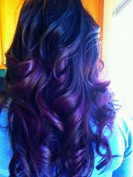 Brown Hair With Purple Ends