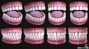 ArtStation - Low poly mouth - Free Download!, Justin Kirkwood | Low poly,  Human mouth, Teeth anatomy