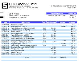 Sample Bank Statements Bank Statement Wikipedia