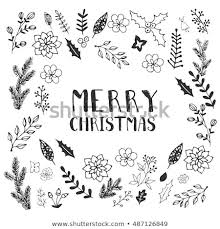 Black And White Greeting Card Black White Christmas Greeting Card Template Stock Vector Royalty