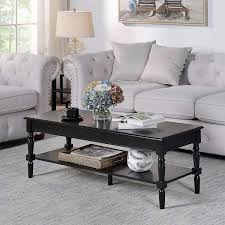 large rectangle wood coffee table with
