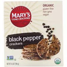 Mary's Gone Crackers, <b>Black Pepper Crackers</b>, <b>6.5</b> oz