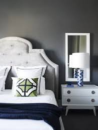 greg natale contemporary bedroom with smoky gray wall color with jonathan adler woodhouse queen bed