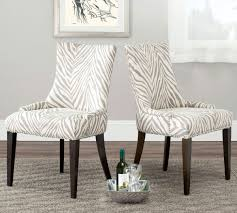 becca 19h grey white zebra dining chair