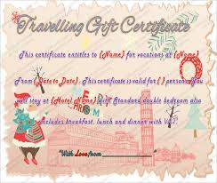 travel voucher template free printable travel gift certificate template word pdf psd