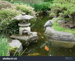 Japanese Garden Koi Pond Stock Photo 55612834 - Shutterstock