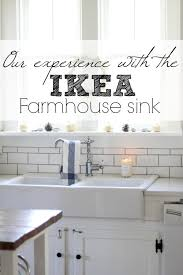 our experience with the ikea domsjo double bowl farmhouse sink farmhouse on boone
