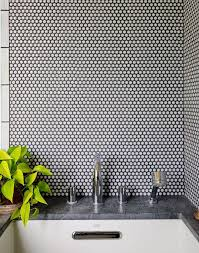 30 Penny Tile Designs That Look Like A Million Bucks | Rounding, Penny tile  and Black grout