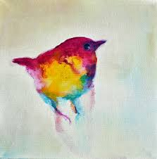 wren 4 original abstract painting by contemporary artist maria kitano