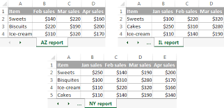consolidate in excel merge multiple