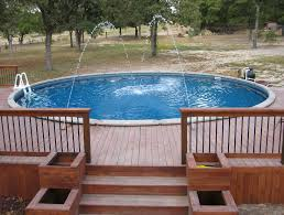 Above Ground Pool Deck Cost Inexpensive Options Embassy For Plans