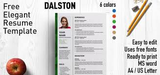 Free Resume Template For Word Impressive Dalston Newsletter Resume Template