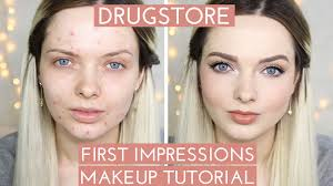 acne coverage first impressions makeup tutorial mypaleskin you