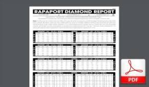 Rapaport Diamond Report Rapaport Listino Quotazioni Diamanti Mercati24