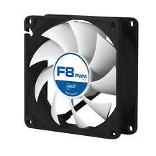 computer case fan. arctic f8 pwm rev.2 80mm 8cm pc gaming case fan silent, 6yr wty computer