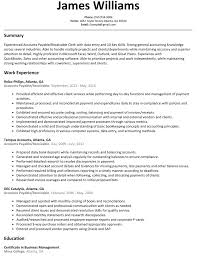 Resume Accounts Payable And Receivable Resume Work Template
