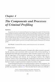 criminal profiling research the components and processes of  the components and processes of criminal profiling springer criminal profiling criminal profiling