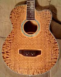 pyrography guitar. pyrography by marshall stokes guitar