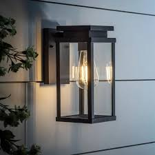 ebony lantern wall light modern