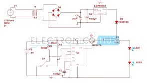 automatic changeover switch circuit using 555 timer automatic changeover switch circuit diagram