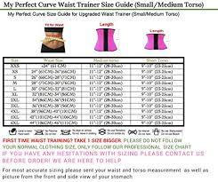 Luxx Health Waist Trainer Size Chart Waist Loss Cincher Fitness Waist Shaper Short Torso