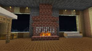 Fireplace With Cooking Pot  Minecraft Stuff Minecraft Ideas And Fireplace In Minecraft