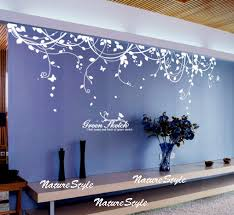 Small Picture Abstract Flowers with Butterflies Vinyl Wall Decalwall sticker