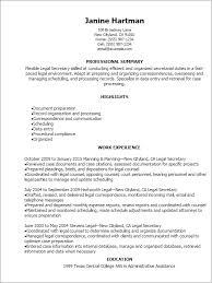 Legal Secretary Resume Template Legal Secretary Resume Template Best