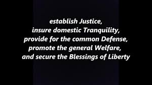 Ensure Domestic Tranquility The Preamble Song To The Us Constitution Words Lyrics Corrected Not
