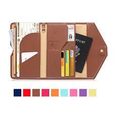 honana hn pb2 9 colors fashion leather travel passport holder credit card tickets organizer cod