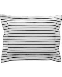 black and white euro sham. Interesting Sham Thin Stripes Black On White Horizontal Cotton Pillow Sham  Euro Inside And Sham