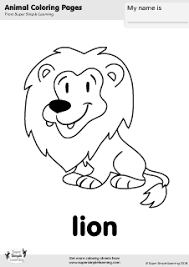 Lion Coloring Page Super Simple