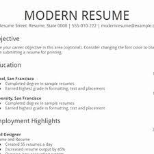 15 Best Of Modern Resume Template Free Resume Sample Ideas