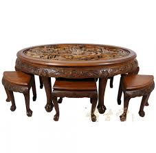 incredible carved coffee table with antique large