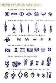 some common turkish rug symbols