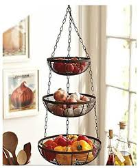 3 Tier Hanging Fruit Basket (Black)