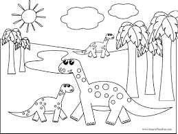 Small Picture Dinosaur Coloring Pages Printable Dinosaur Coloring Pages For Kids