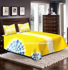 vht yellow tie dye bed sheet set rs