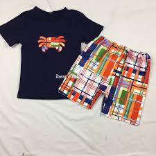 Little Boy Applique Designs 2019 Little Boy Clothing Crab Applique Design Siblings Outfit Kids Summer Clothing Sets 18 Boy Boys Clothes Buy Little Boy Clothing Siblings