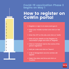 Those above 18 years of age will be able to get vaccinated from may 1 in the third phase of inoculation. Covid Vaccine Registration How To Register On Cowin App And Aarogya Setu India News Times Of India