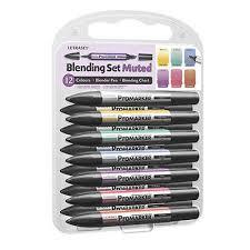 Promarker Blending Chart Letraset Promarker Blending Set 12 Pen Blender Muted 801199018438 Ebay