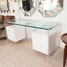 white glass desk with hanging lacquered drawers cool design awesome white desks with