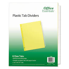 Office Depot Divider Templates Plastic Insertable Dividers 8 Tab Letter