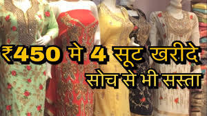whole market of las suits sarees best market for business purpose town hall chandini chowk